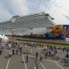 Die schwierige Emsüberführung neuer Kreuzfahrtschiffe