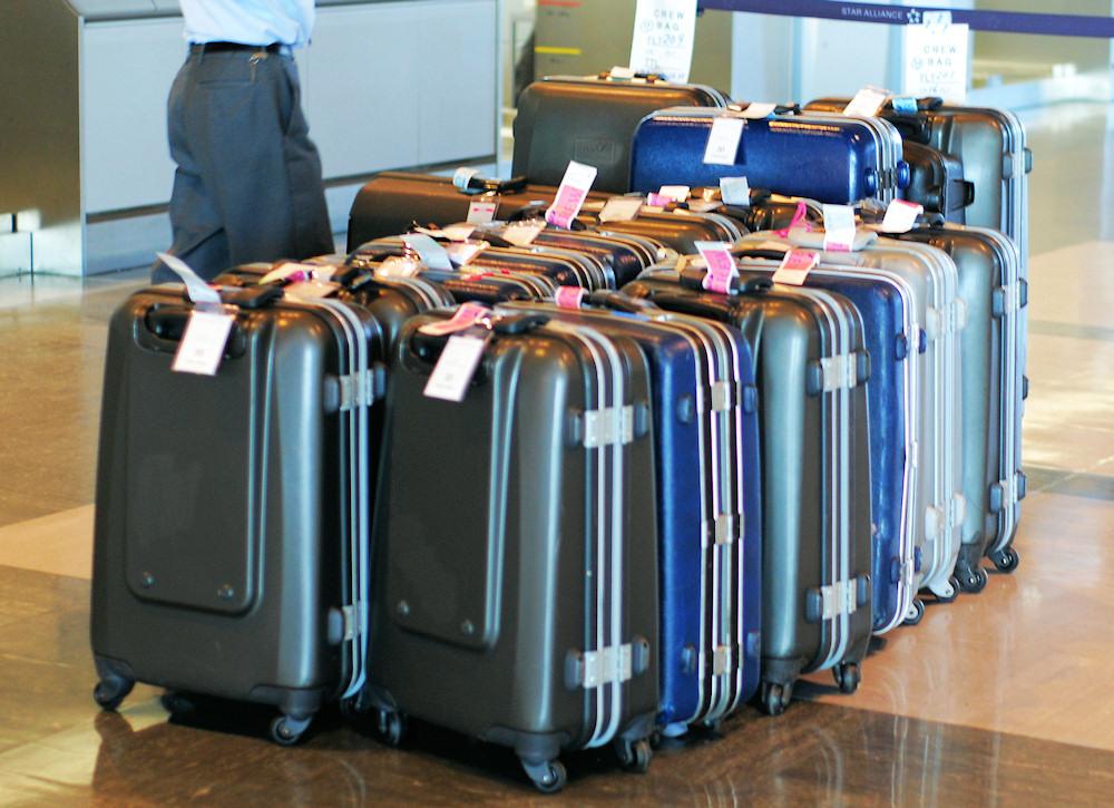 Das Gepäck wartet auf die Abfertigung