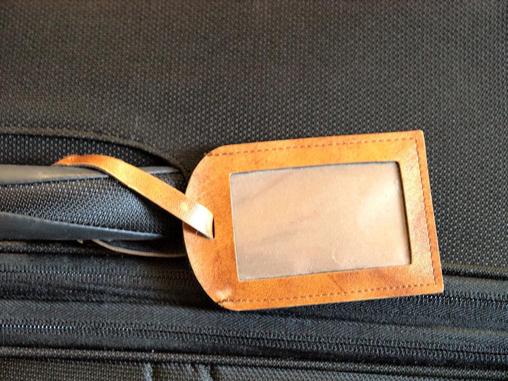 Kofferanhänger am Gepäck