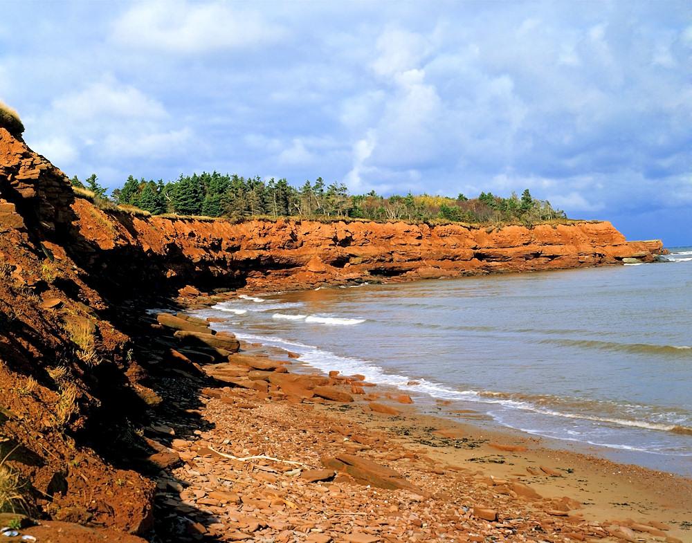 Die Küste von Prince Edward Island in Kanada