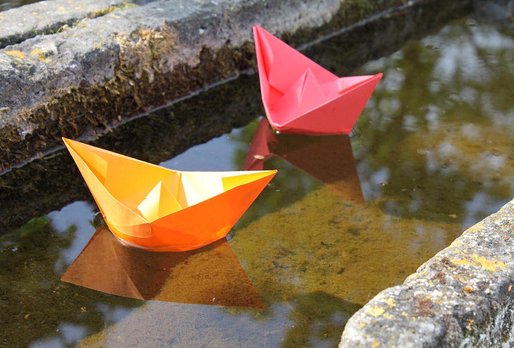 Kreuzfahrt-Gimmicks: Papier-Schiffchen