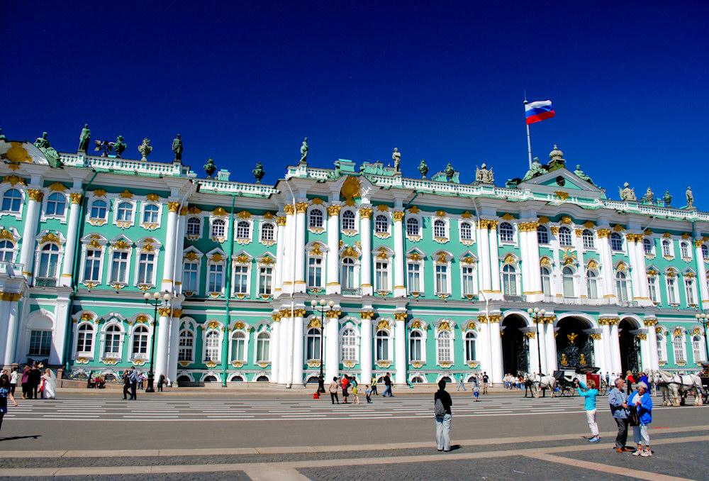 Der Winterpalast ist Teil der Eremitage