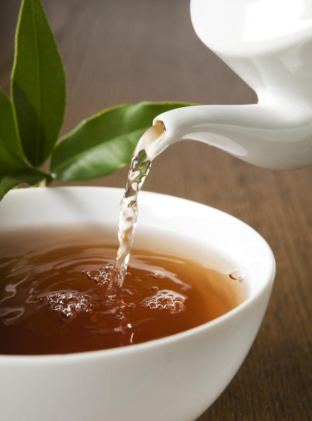 Energie tanken bei einer Tasse Tee
