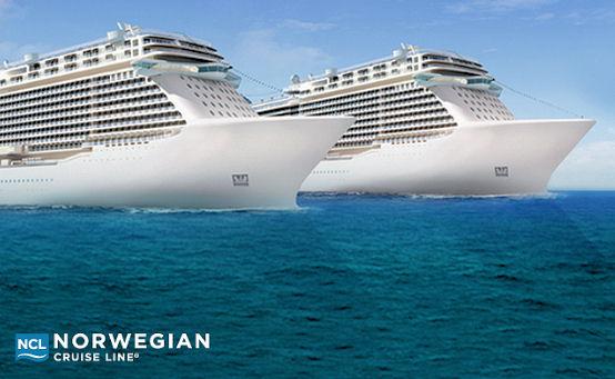 noch sind die beiden Schiffe der Breakaway Plus-Klasse namenlos!