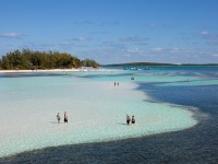 Aerial Coco Cay auf den Bahamas