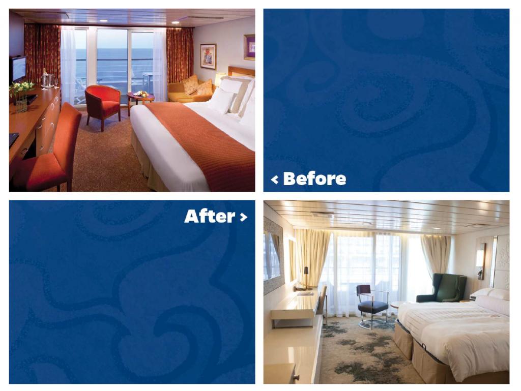 Die modernisierten Kabinen an Bord der Azamara Journey © Foto: Azamara Club Cruises