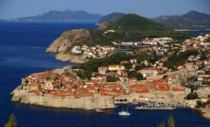 Dubrovnik an der Küste Kroatiens