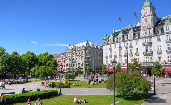 Parlament in Oslo, Norwegen