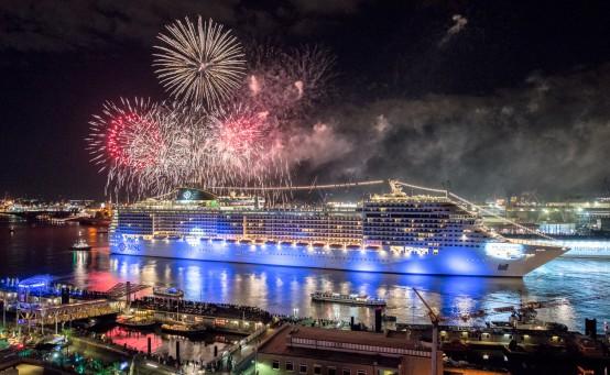 Das Fuerwerk war der krönende Abschluss des Events. © Foto: MSC Cruises S.A.
