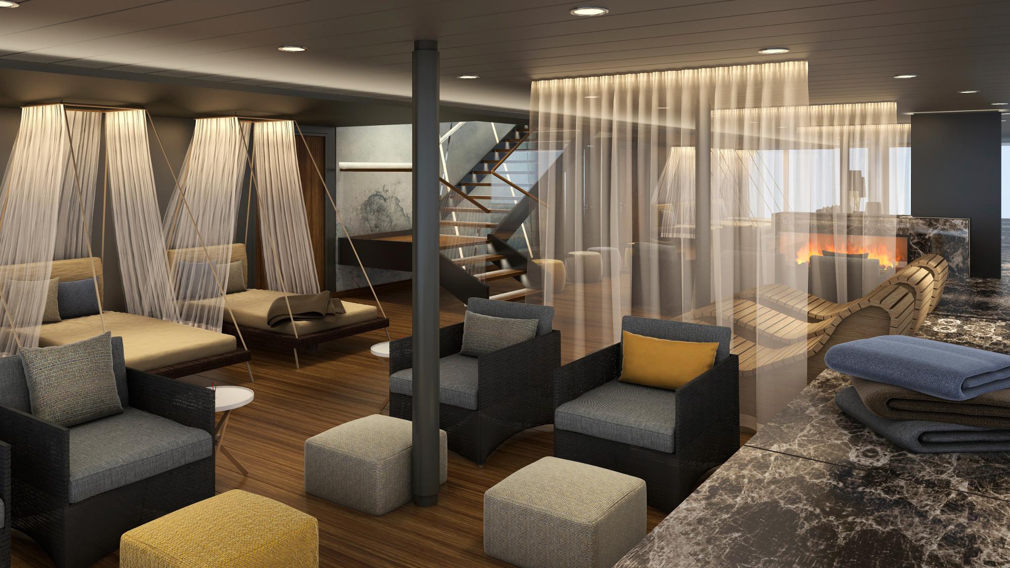 Der SPA & Meer–Ruheraum der neuen Mein Schiff 1 © Bild: TUI Cruises