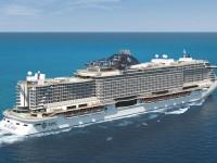 Die neue MSC Seaside auf dem Meer