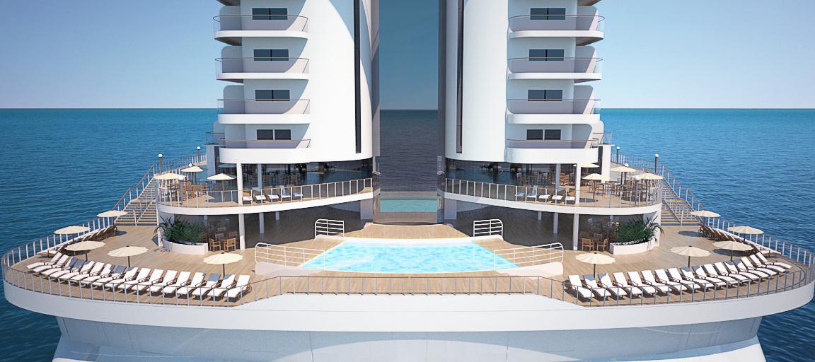 Die Außenflächen an Bord sind besonders großzügig gestaltet. © MSC Cruises