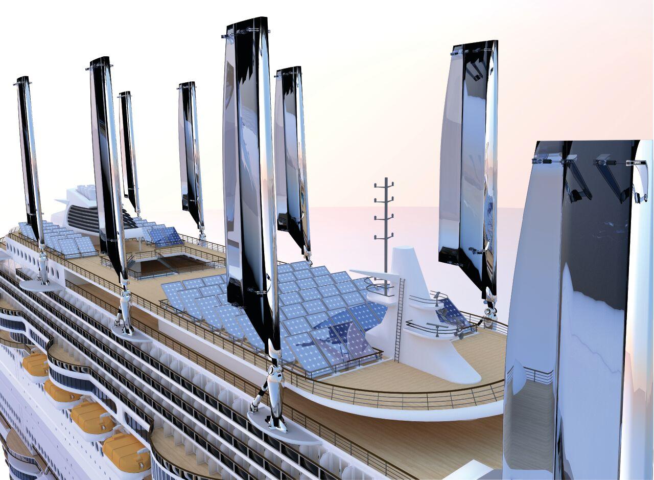 So könnten die Solar Panels des Ecoships aussehen. ©ecoship