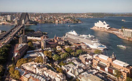Kreuzfahrtschiff von Oceania Cruises in Sydney